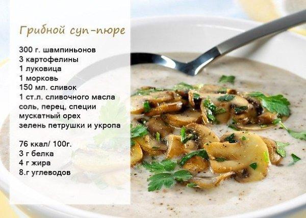 Суп грибной с капустой рецепт пошагово