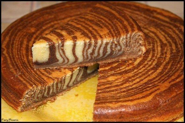 Сладкий пирог зебра рецепт с