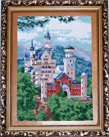 Нойшванштайн замок вышивка крестом схема