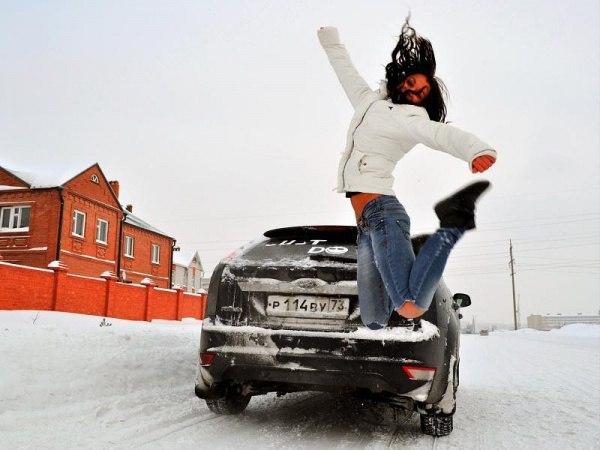 мужики на машине зима фото создании
