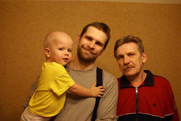 Фото - Моя семья: : Отец-сын-внук - Медвед Пермский, 64 года, Пермь