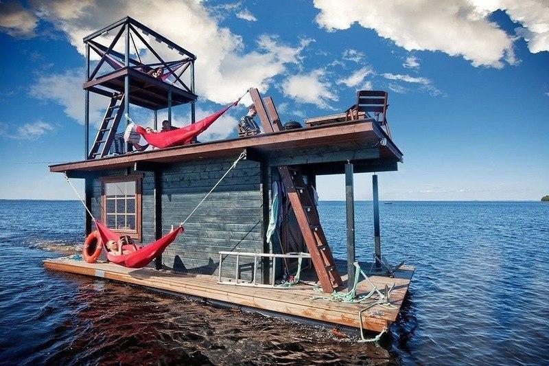 Плавающая сауна-домик.#архитектура@yakor.blog - 3