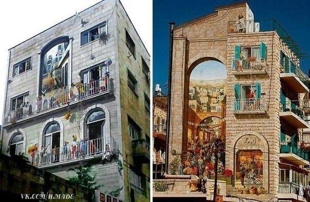 Рисунки на домах - хороший способ оживить серые и скучные городские постройки - 6