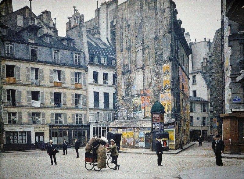 Цветные фотографии Парижа 1914 года. Париж — город огней. Он был любим по многим причинам на ... - 4