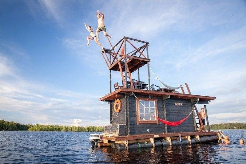 Плавающая сауна-домик.#архитектура@yakor.blog - 2