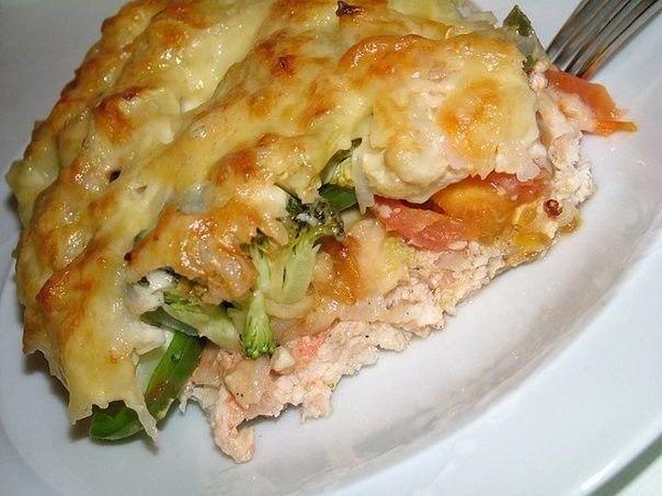 Куриная запеканка.Ингредиенты:куриное филе 500 гр.помидоры 2 шт.твердый сыр 150 гр.сметана 15-20% ... - 2