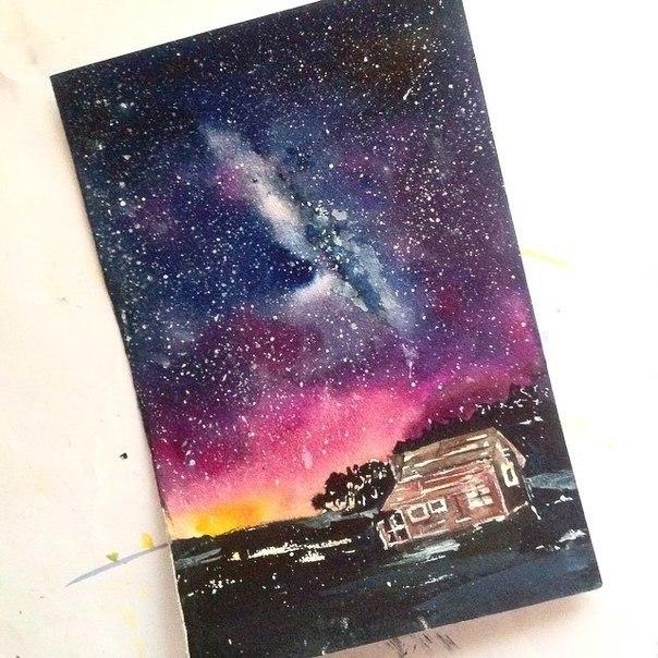 Акварели 14-летней художницы под ником Jinerart
