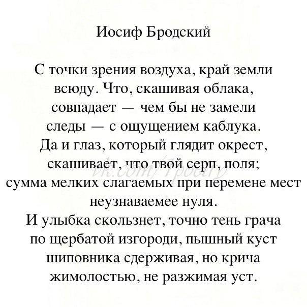 Стихи стихи бродского