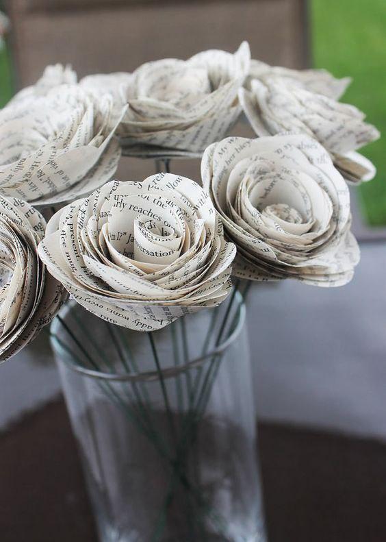 Цветов, букеты из газеты своими руками