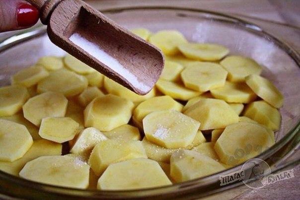 Картофельная тортилья с луком.Ингредиенты:Картофель — 5 шт.Соль — 1 ст. л.Масло растительное — 2 ст. ... - 3