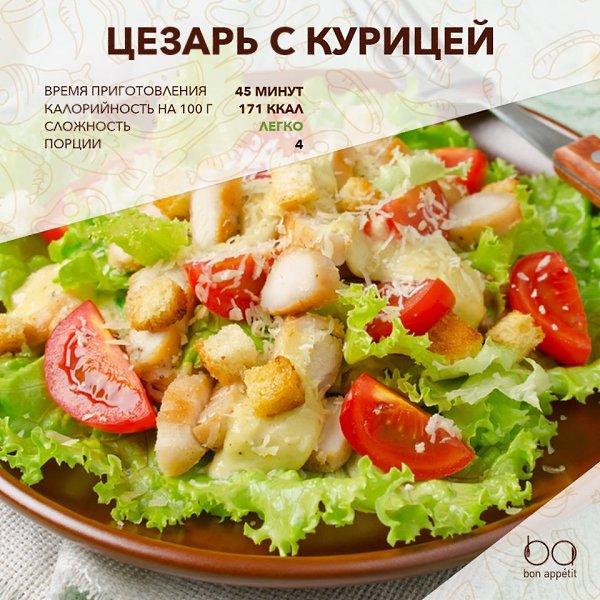 Рецепт салата цезаря в картинках