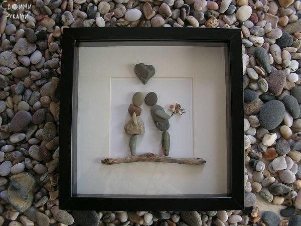 Картинки из камушек своими руками фото, новым