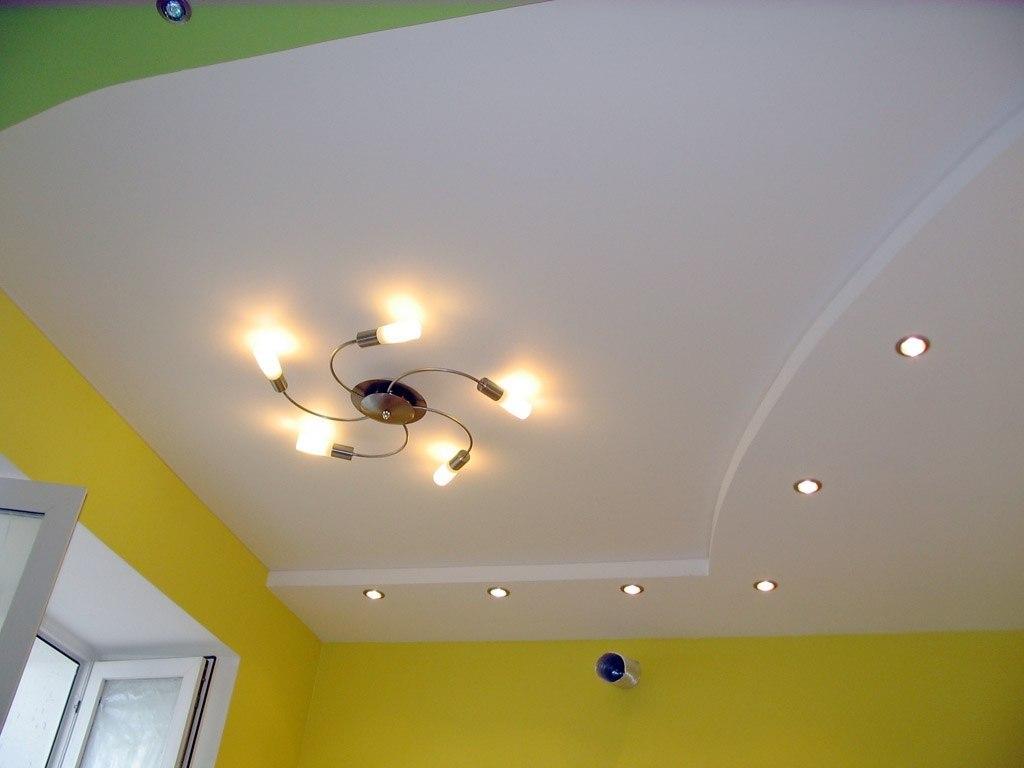 ремонт потолки с гипсокартона фото теплая она