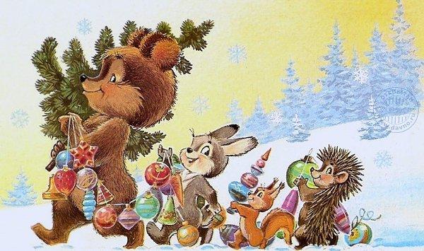Картинки по запросу советские новогодние открытки
