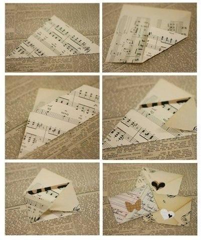 как сделать открытку письмо своими руками идей того