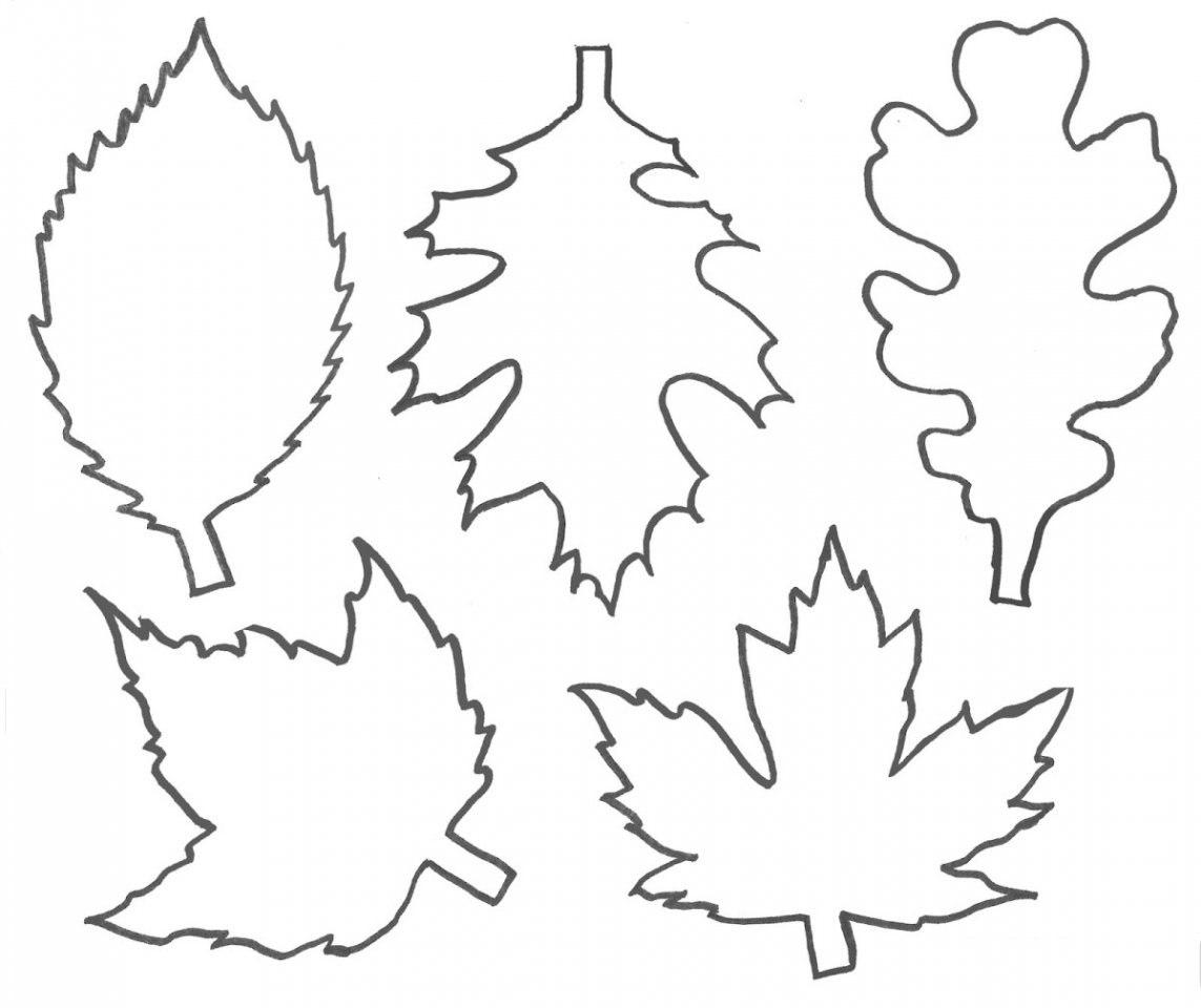 Осенние листочки картинки для оформления трафарет, новогодняя