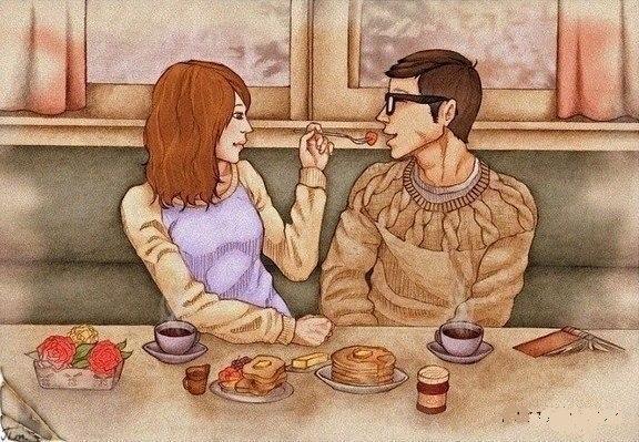 Сидеть вдвоём до самой темноты -.С лимоном чай, и плитка шоколада...Ведь счастье - это если рядом ...