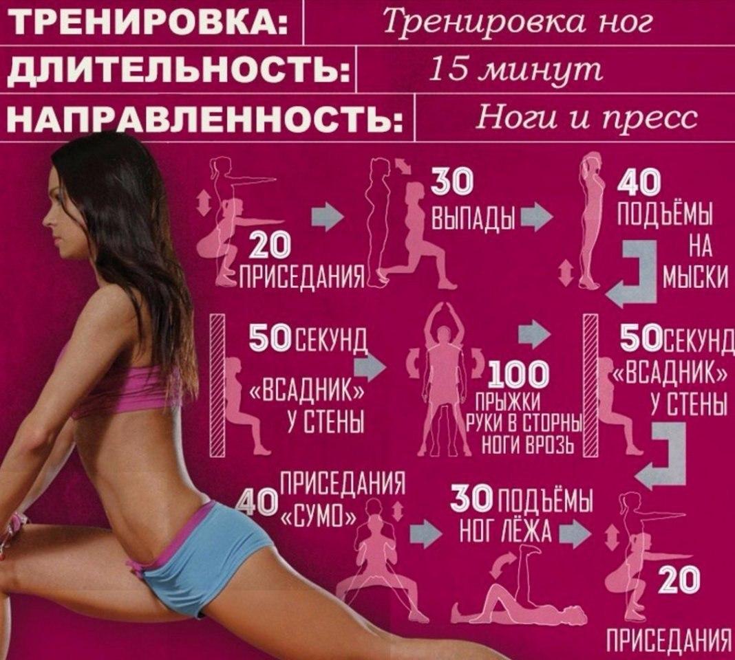 Упражнения для идеальной фигуры в картинках
