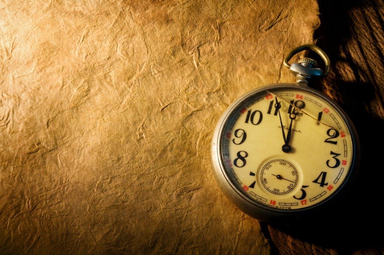 Открытки с идущим временем