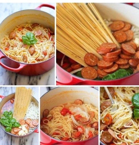 Супер-спагетти.https://vk.com/club150059236Ингредиенты:Спагетти — 450 гОхотничьи колбаски, тонко ...