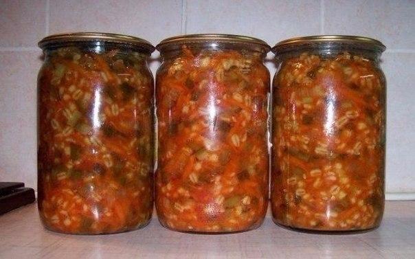 Консервированный рассольник.Ингредиенты:огурец свежий - 3 кг;лук репчатый - 1 кг;морковь - 1 ...