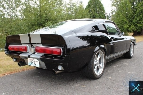 | Мотор |.1967 Ford Mustang Fastback cтapaя шкoлa - 6