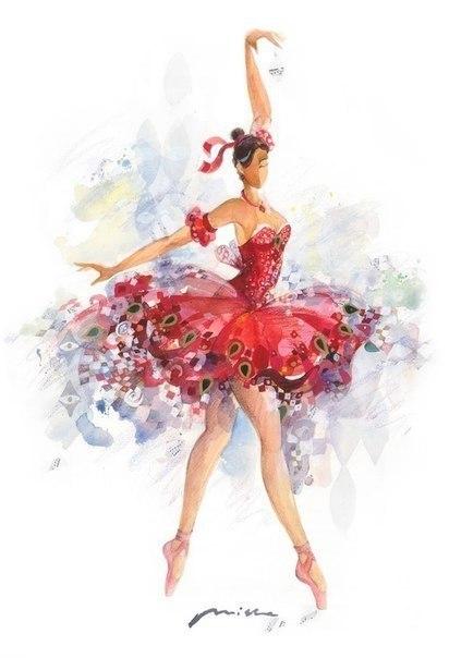Акварельные балерины - 2