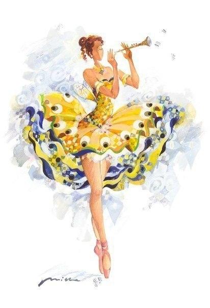 Акварельные балерины - 4