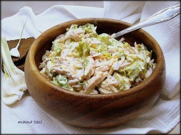 10 салатов с СЫРОМ.1. Салат овощной с сыром и ветчинойИнгредиентыСалатные листья 1пучок.Морковь ...