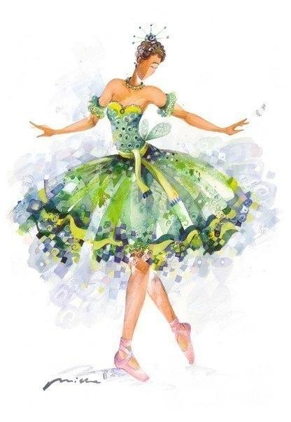 Акварельные балерины - 5
