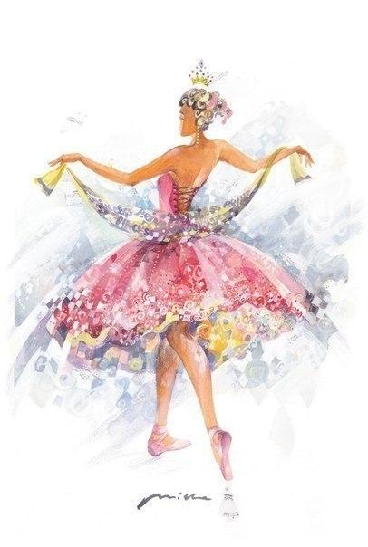 Акварельные балерины - 3