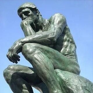 """— Федя! Ты знаешь знаменитую скульптуру Родена """"Мыслитель""""? — Да! А что? — Вот, таки меня ..."""