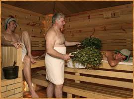 Секс в бани