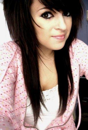 Эмо девушки с черными волосами