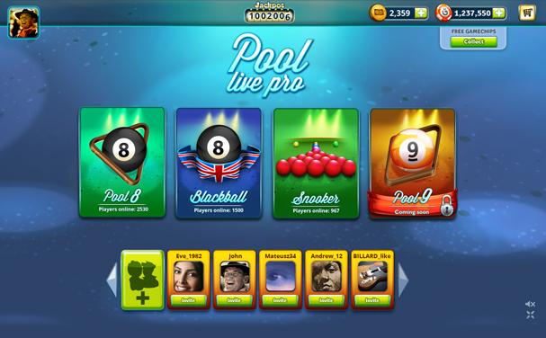 Игра Pool Live Pro