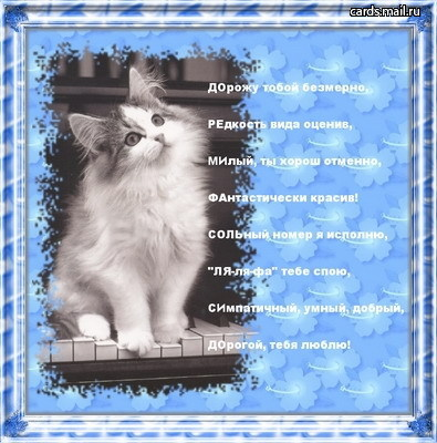 Любовные картинки с животными с стихами